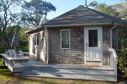 Orleans Cape Cod vacation rental - Deck with patio furniture. Gas Grill at the side.