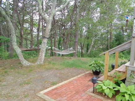 Wellfleet Cape Cod vacation rental - Back Yard (Hammock may not be there anymore)