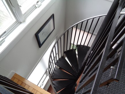 Wellfleet Cape Cod vacation rental - Stairs Going Down To Queen Bed