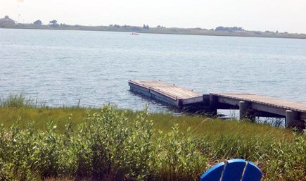 Yarmouth, The tip of South Sea Village Cape Cod vacation rental - The dock and pond from our back yard.