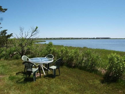 Yarmouth, The tip of South Sea Village Cape Cod vacation rental - The cottage's back yard on Lewis Pond.