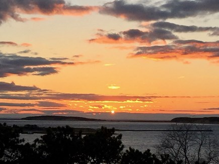 Wellfleet Cape Cod vacation rental - One of many incredible sunsets from the deck
