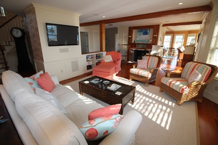 Harwich Cape Cod vacation rental - Central air conditioning and cable TV with surround sound.