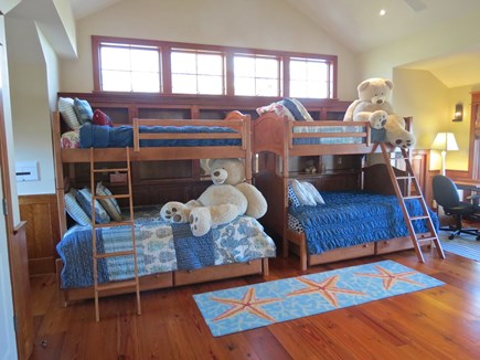 Harwich Cape Cod vacation rental - Coolest bunk room on the Cape!Bottom beds are full doubles.