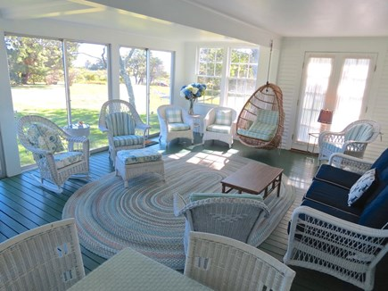 Chatham Cape Cod vacation rental - Spacious, main house sun room walks out to beautiful patio.