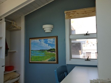 Provincetown Cape Cod vacation rental - Loft dressing area, lots of original artwork in the unit