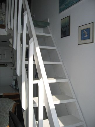 Provincetown Cape Cod vacation rental - Captn's stairs-not for the inebriated, bad knees, or little kids!