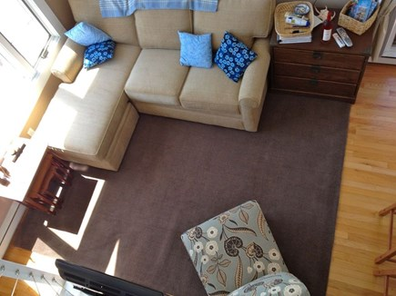Provincetown Cape Cod vacation rental - View of living room sectional from loft