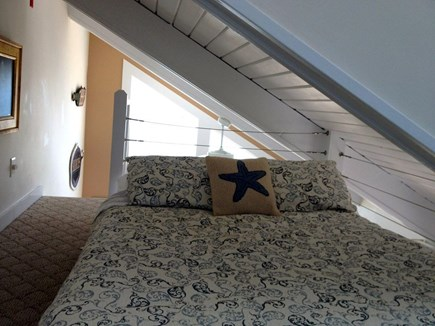 Provincetown Cape Cod vacation rental - Cozy sleeping loft, 100% cotton linens and quilt, down comforter