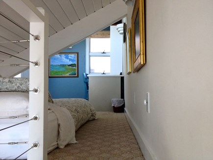 Provincetown Cape Cod vacation rental - View of loft bedroom from stairs