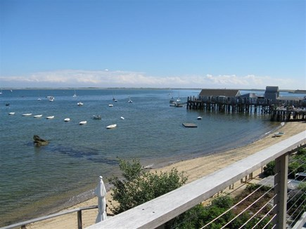 Provincetown Cape Cod vacation rental - Views from the deck toward Captain Jack's Wharf and the West End