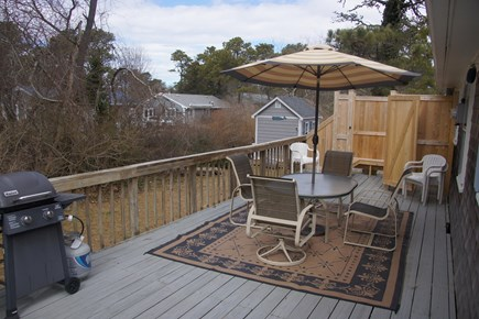 Dennisport Cape Cod vacation rental - Deck with outside shower