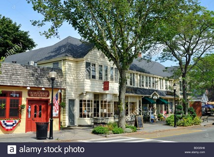 Falmouth Cape Cod vacation rental - Falmouth Village, street scene with shops and restauran