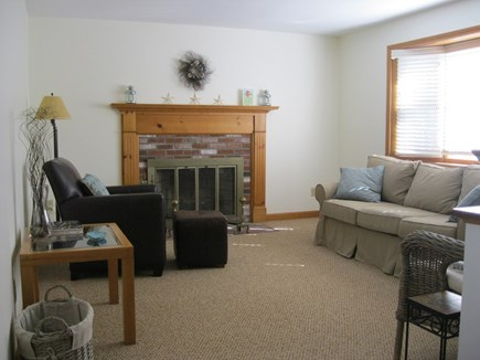 Falmouth Cape Cod vacation rental - Living room, Bose music system, Pottery Barn Sofa, Leather chair