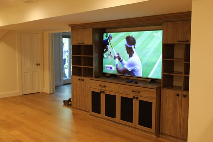 Truro Cape Cod vacation rental - Media room has 65-inch TV with plenty of viewing options