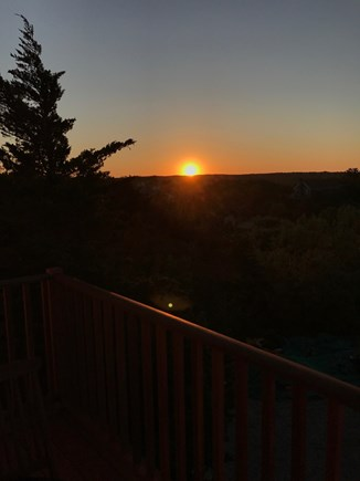 Truro Cape Cod vacation rental - Watching the sunrise off the Master Suite deck