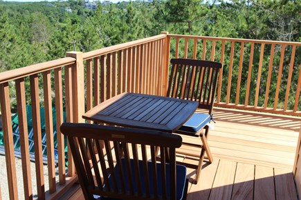 Truro Cape Cod vacation rental - Deck off of the master bedroom, look for the sunrise!