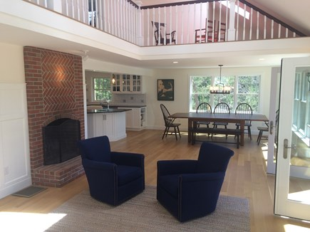 Truro Cape Cod vacation rental - Living area opens directly to the deck