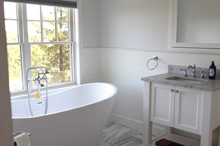 Truro Cape Cod vacation rental - Master Bath with freestanding tub and separate shower