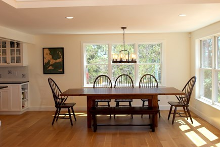 Truro Cape Cod vacation rental - Dining with view to Cape CodBay and sunsets