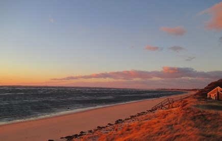 Truro Cape Cod vacation rental - Gorgeous sunset over Great Hollow Beach, enjoy from the deck!