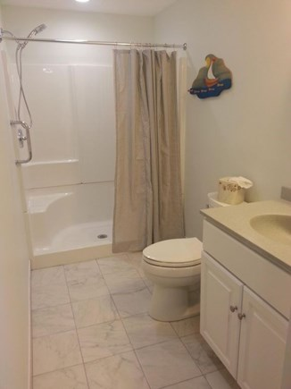 Hyannis Cape Cod vacation rental - Newly remodeled bath with walk-in shower and seat.