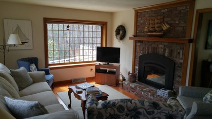 Hyannis Cape Cod vacation rental - Living room with comfy seating, TV and DVD player.
