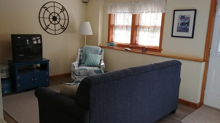 Hyannis Cape Cod vacation rental - Family room has a memory foam queen size sofa bed and TV.