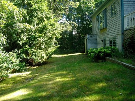 Hyannis Cape Cod vacation rental - Backyard with room to run. Outdoor shower.