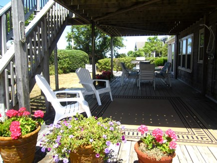 Brewster Cape Cod vacation rental - Lower Deck with oversized Outdoor Shower with rain head.