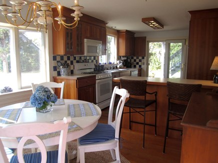 Brewster Cape Cod vacation rental - Eat-in Kitchen, Cherry Cabinets