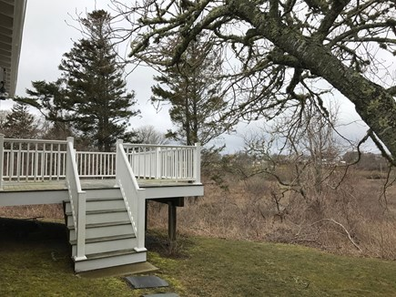 Chatham Cape Cod vacation rental - Back deck with private yard