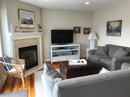 Chatham Cape Cod vacation rental - Family Room with flat screen TV and sliders to the deck