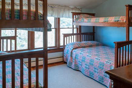Chatham Cape Cod vacation rental - 2nd floor bedroom w/ 2 sets of bunk beds (3 twins and 1 double