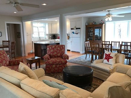 Chatham Cape Cod vacation rental - Living room looking towards the kitchen and dining area