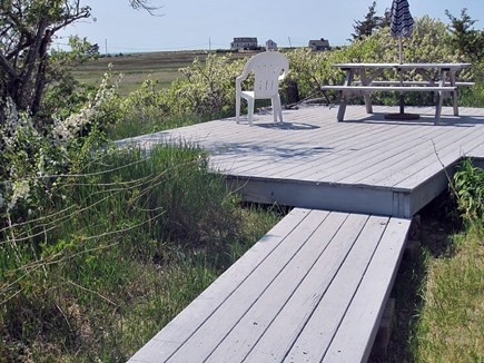 North Eastham Cape Cod vacation rental - Relax on the back yard deck overlooking the marsh