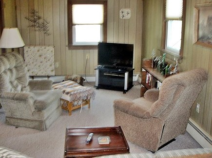 North Eastham Cape Cod vacation rental - Den with comfy chairs and TV