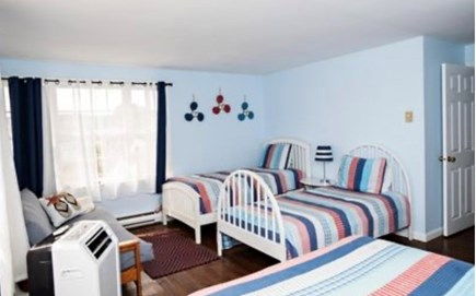 Dennis Port Cape Cod vacation rental - Ocean view-Bedroom upstairs One queen bed, 2 twin beds and futon