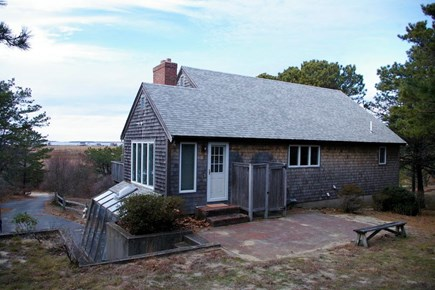Eastham Cape Cod vacation rental - Back of house with outdoor shower