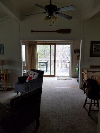 Eastham Cape Cod vacation rental - View from the kitchen to the deck