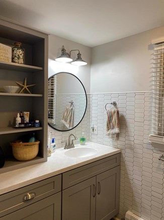 Eastham Cape Cod vacation rental - Updated First-floor full bath with full size washer/dryer.