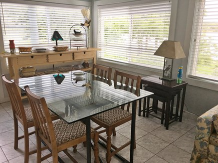 S Yarmouth Cape Cod vacation rental - Sunroom dining area