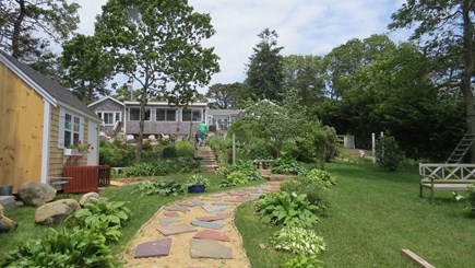 S Yarmouth Cape Cod vacation rental - Back garden