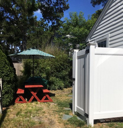 Dennisport Cape Cod vacation rental - Outdoor shower! Perfect after a long day at the beach.