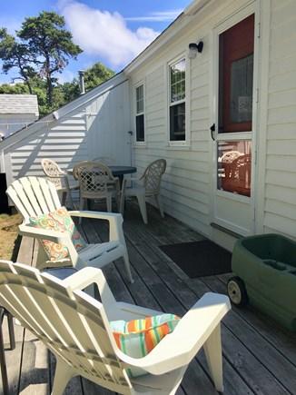 Dennisport Cape Cod vacation rental - Back deck.