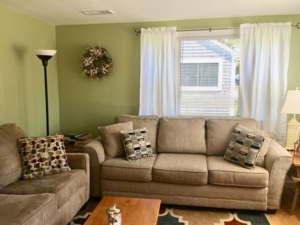 Dennisport Cape Cod vacation rental - Living room with queen pull-out sofa.