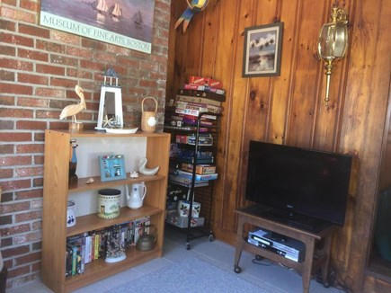Dennisport Cape Cod vacation rental - Den with flat screen tv for quiet relaxation