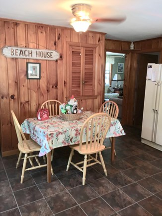 Dennisport Cape Cod vacation rental - Kitchen table extends to seat 8