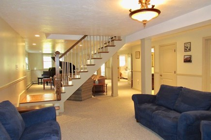 Chatham Cape Cod vacation rental - The large lower level with multiple entertainment areas.