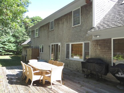 Harwich Cape Cod vacation rental - Immense private deck is great for grillin' and chillin.'